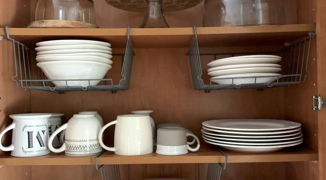 Kitchen Organization: Plates & Cups