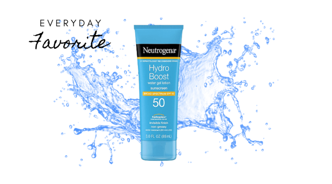 Favorite Sunscreen: The Neutrogena Hydro Boost Sunscreen My Go-To Sunscreen For Everyday Use.
