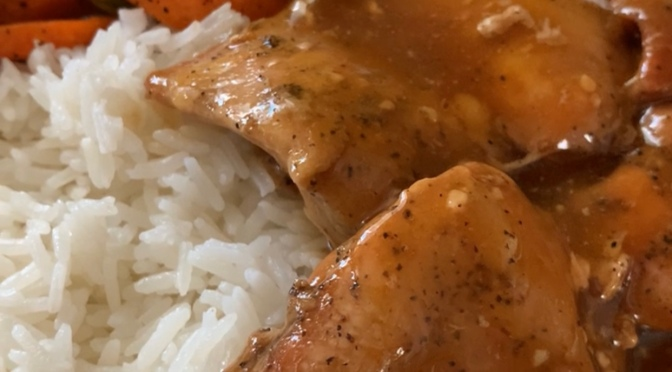 Instapot Honey Garlic Chicken- Quick and Easy Instapot Chicken